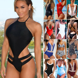 5075cde3f4 Brazilian Women One-piece Sexy Swimsuit Swimwear Push-Up Bikini Set ...