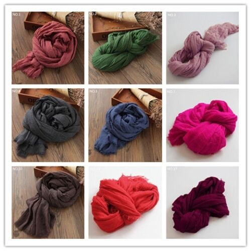 200*160cm Oversized Solid Color Plain Cotton Linen Scarf for Women Shawl Wraps