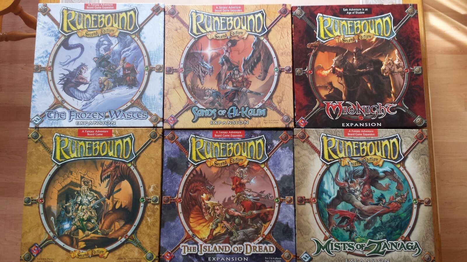 Runebound 2nd Edition Lot includes base set and 5 large box expansions