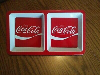 """Coca Cola COKE Melamine Divided Plastic Tray 12/"""" x 6.75/"""""""