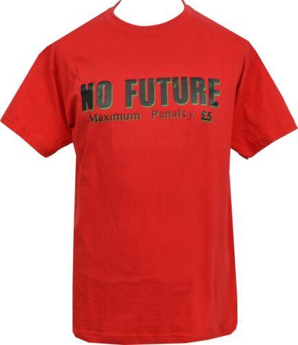 Homme T-shirt rouge sans avenir Seditionaries 1977 Original London Punk Rock 1977