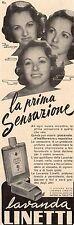 Pubblicità vintage lavanda Linetti Venezia profumo donna old advert reklame A1