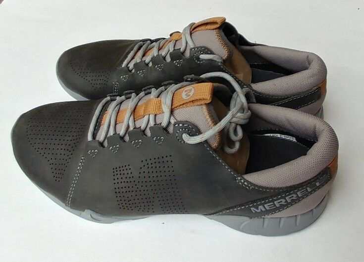 Merrell mens Versent Kavari Lace Leather granite, brown & grey shoes Size 9