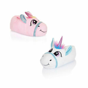 Nifty-Kids-3D-Magico-Unicorn-Pantofole-Ragazze-Novita-Animale-Morbido-Calzature
