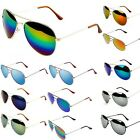 New Retro Vintage Womens Mens Aviator Mirror Reflective Lens Unisex Sunglasses