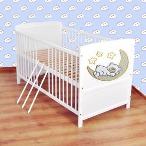 Babybett-Kinderbett-Juniorbett-umbaubar-140x70-Weiss-nr-10