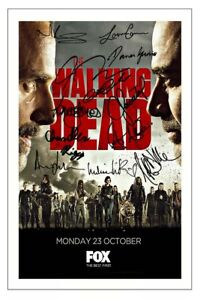THE WALKING DEAD SEASON 8 CAST AUTOGRAPH SIGNED PHOTO PRINT  NORMAN REEDUS ETC