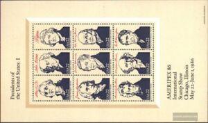 USA-Block17-kompl-Ausg-postfrisch-1986-Prasidenten-der-USA-I