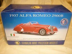 Franklin Mint 1937 Alfa Romeo 2900 B Roadster d'occasion, Camionnette, Papiers, Hood