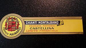 ETICHETTA-LABEL-da-fiasco-CHIANTI-MONTALBANO-Vintage-anni-039-50-cm-11-x-3-circa
