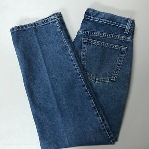 J-Crew-Womens-Button-Fly-Jeans-Size-32-x-30-Straight-Leg-Distressed-High-Rise