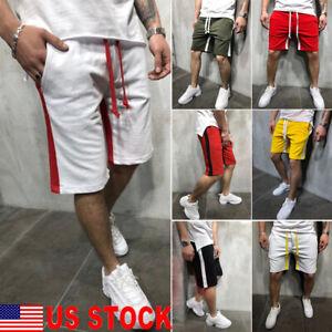 US-Mens-Summer-Casual-Sports-Gym-Shorts-Running-Jogging-Trunks-Beach-Short-Pants