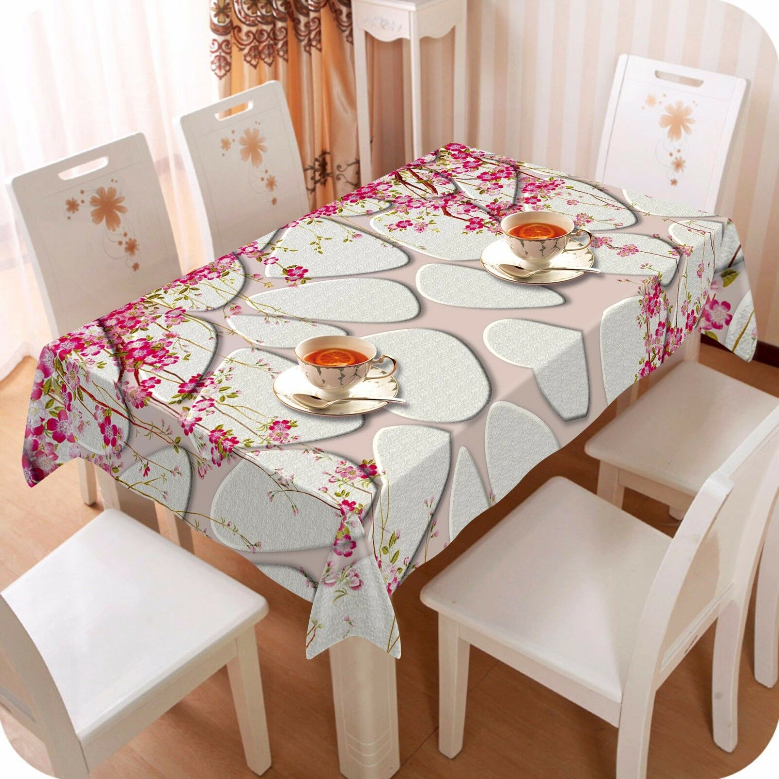 3D Flower 4418 Tablecloth Table Cover Cloth Birthday Party Event AJ WALLPAPER AU