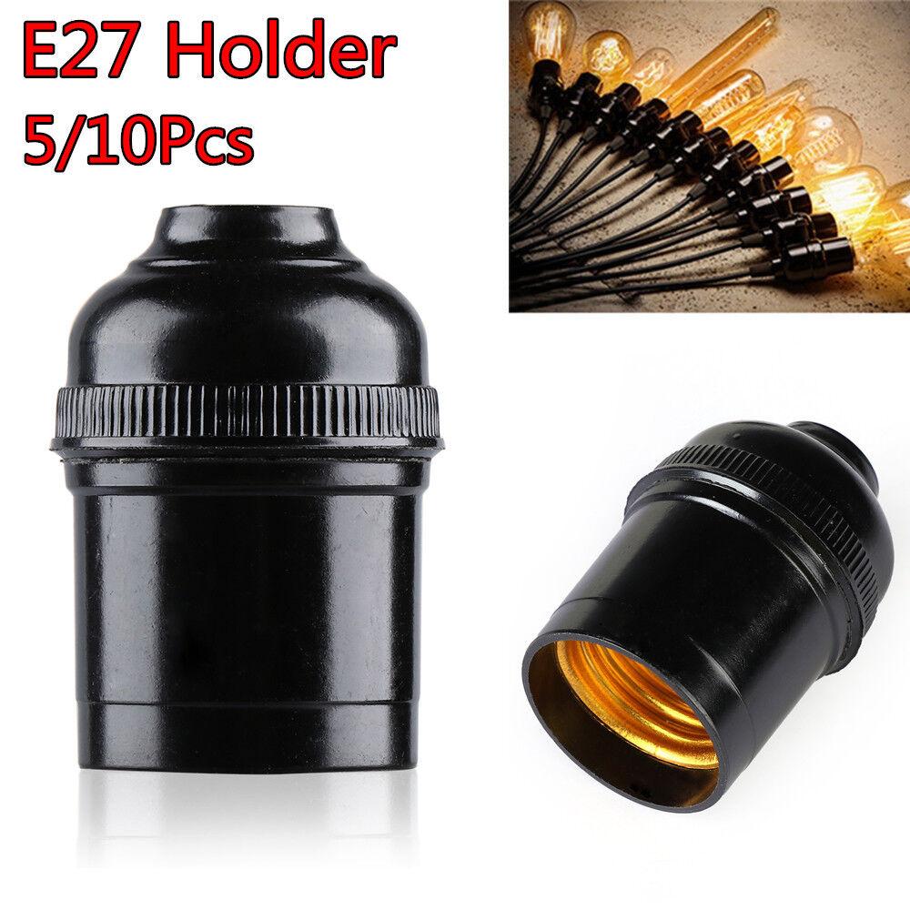 Vintage E27 4A Light Bulb Lamp Holder Pendant Edison Screw Cap Socket UK Stock