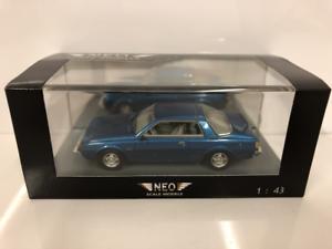 Mitsubishi Sapporo Coupé 1982 Metálico blu 1 43 Escala Neo 43441