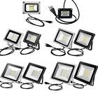 10W 20W 30W 50W 100W LED Flood Lights Outdoor Spotlights Garden Lamp w/ US Plug