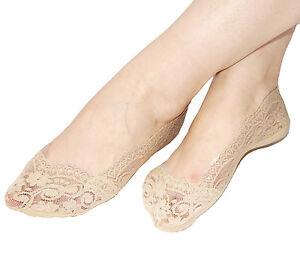 Courageux Femmes Non Slip Footsies Semelle Intérieure Rembourrée Coussins Anti-dérapant Invisible Doublure Chaussettes-afficher Le Titre D'origine