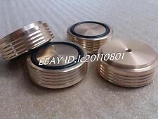 4pcs (gold) Aluminum feet/foot pads for amplifer/dac D:44mm H:17mm Screw thread