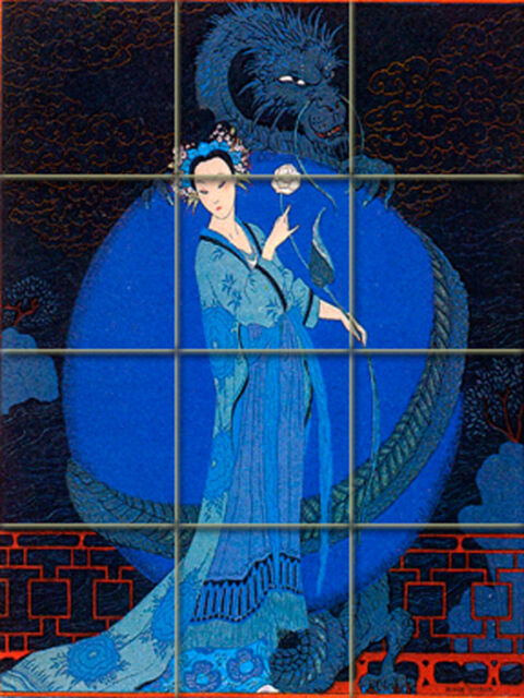 Art Nouveau George Barbier Ceramic Mural Backsplash Bath Tile #48