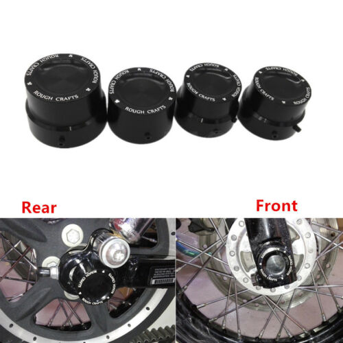 Black CNC Aluminum RC Front+Rear Axle Cover Cap Nut Harley Sportster XL 883 1200