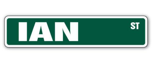IAN Street Sign Childrens Name Room Decal Indoor//Outdoor