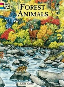 Dover Nature Coloring Book Forest Animals By Dianne Gaspas 2001 Paperback