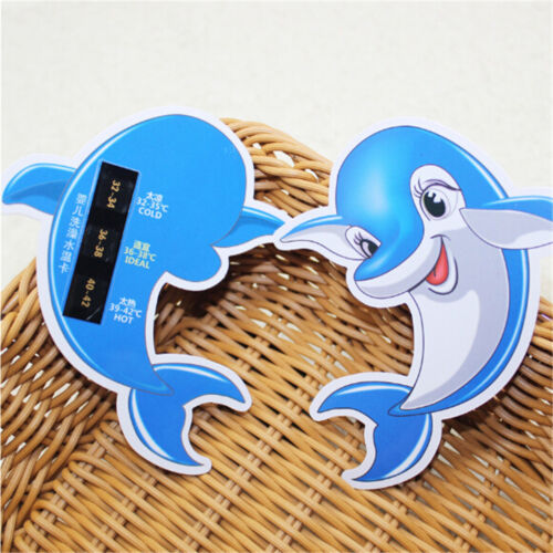 Baby Bathing Water Thermometer Dolphin Hot 3Level Temperature Range DisplayBICA