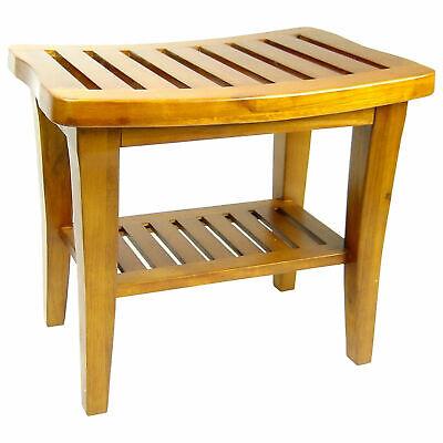 Shower Seat Teak Wood Bench Medical Stool Tub Chair ...