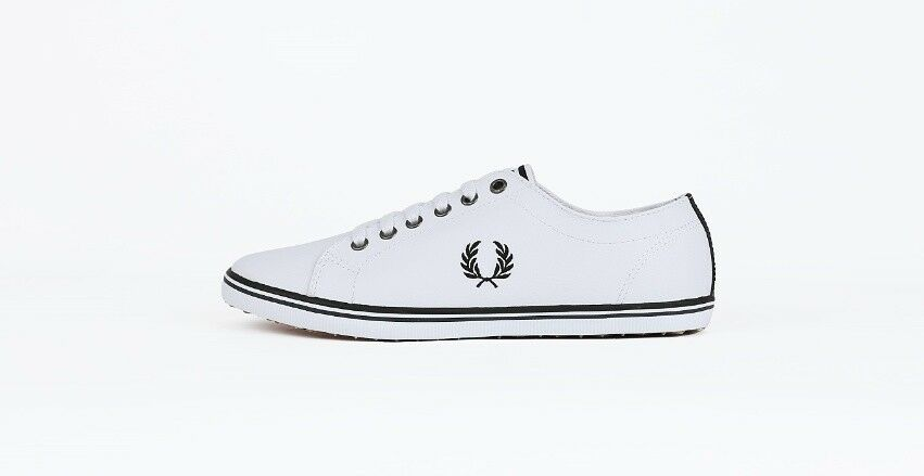 FRED PERRY WHITE LEATHER   KINGSTON LEATHER B6237U
