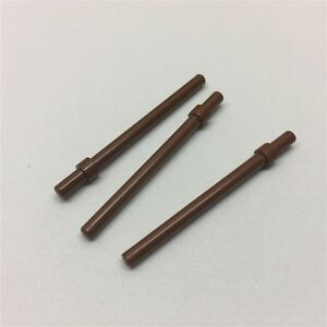 LEGO PART 63965 REDDISH BROWN BAR 6L WITH STOP RING 4 PIECES