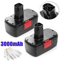2x 19.2v 3000mah Diehard Compact Ni-cd Battery For Craftsman Cordless Drill