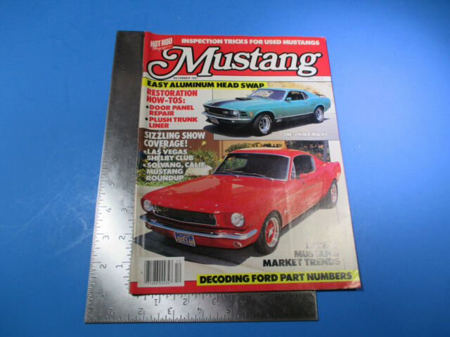 Hot Rod Mustang Magazine December 1987  Easy Aluminum Head Swap Mach 1 M6391