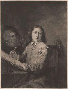 David-Teniers-Les-sens-La-vue-Artiste-Dessinateur-Gravure-Eau-forte-XIXe