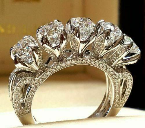 Elegant Women  White Sapphire Ring Wedding Bridal Jewelry Sz6-10 Gifts
