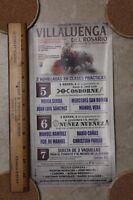 2015 Small Bullfight Poster From Villaluenga Del Rosario Spain - Plaza Del Toros