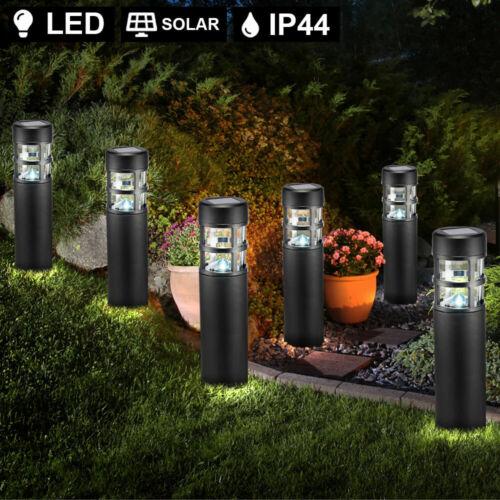 4x LED Außen Steck SOLAR Lampe Garten Stand Beleuchtung Sockel Wege Steh Leuchte