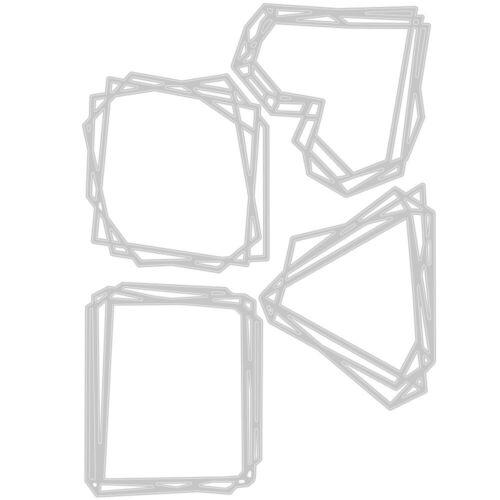 NEW Sizzix Geo Frames Thinlits Die Set 664414