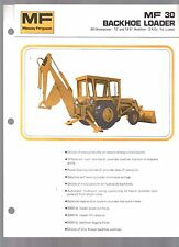 1974 MASSEY FERGUSON MF 30 BACKHOE LOADER TRACTOR INDUSTRIAL EQUIPMENT BROCHURE