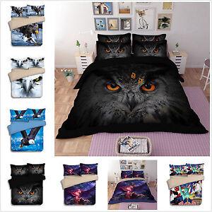 Eagle Doona Quilt Duvet Cover Set King Single Queen King Size Bed