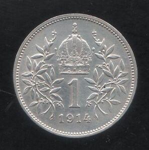 AUSTRIA-1-CORONA-1914-FRANCESCO-GIUSEPPE-SPL-FDC-KM-2820-ARGENTO-osterreich-mrm