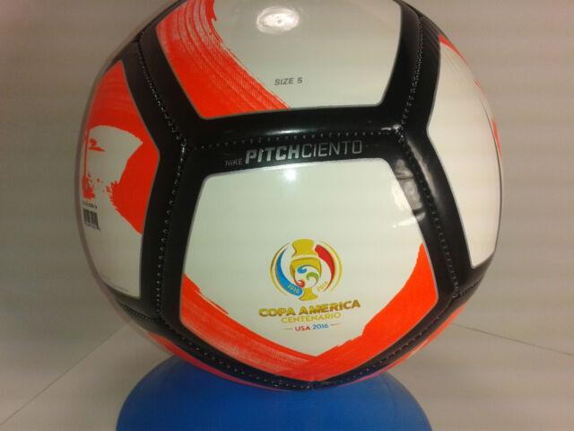a1b54e62ab Nike Pitch Ciento Copa America Soccer Ball Whtie Total  Black Size 5  SC2903