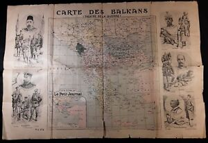 Map-Published-by-the-Petit-Journal-Des-Balkans-Theaters-of-Wars-with-Engravings