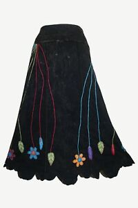 53510ed1a8ecf3 Image is loading 402-SKT-Rib-Knit-Cotton-Stem-Embroidered-Gypsy-