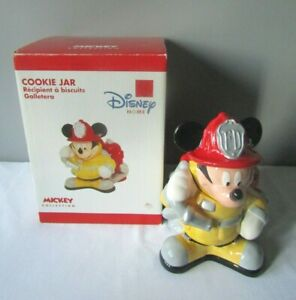 Disney-Home-Mickey-Collection-Mickey-Mouse-Fireman-Cookie-Jar-w-Box