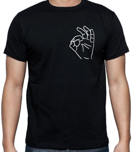 Ok Hand Gesture Sign Meme Inspired Black T Shirt Mens Fit Funny Gift