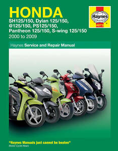 haynes manual 4873 honda scooter fes125 pantheon fes125 s wing new rh ebay co uk Honda Lawn Mower Service Manuals Honda GX340 Service Manual
