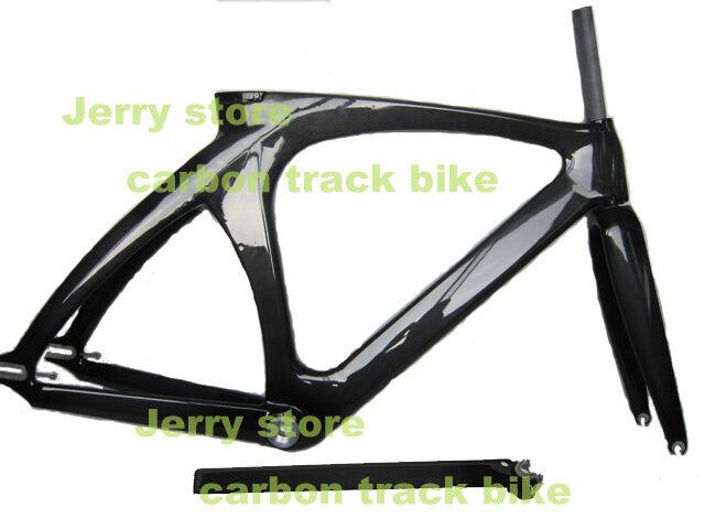 Fibra De Carbono Pista marco de la bicicleta, tamaño de 51 cm con tubo superior 56 Cm En Stock