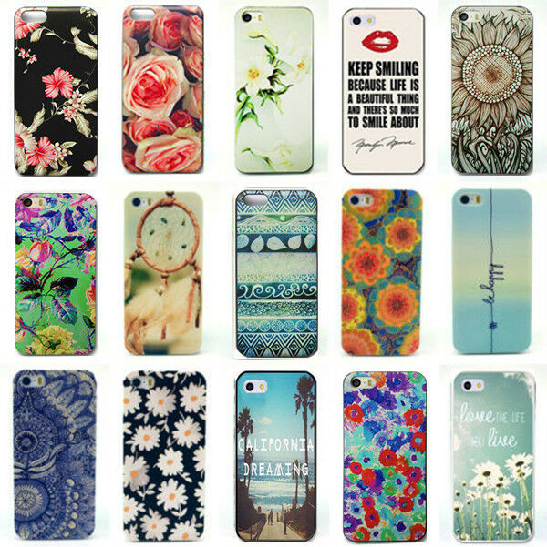 Painted Various Flower Phone Hard Back Case Cover Skin For iPhone 4S 5S 5C 6S