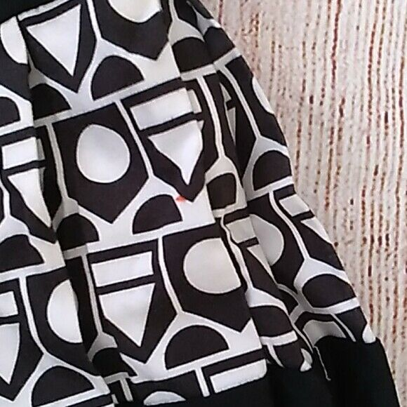 Save the Queen! geometric waisted dress sz M - image 4