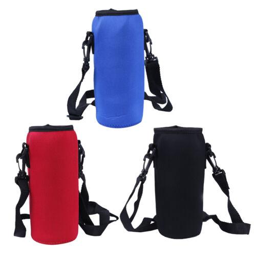 1000ml neoprene water bottle carrier insulated cover bag holder strap travel/>YHB